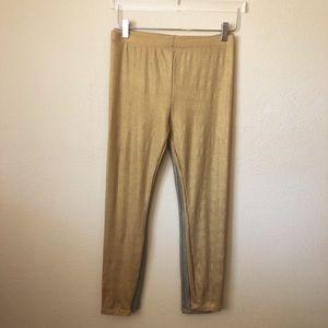 2 Pair Leggings Gold / Silver NWOT Xhilaration